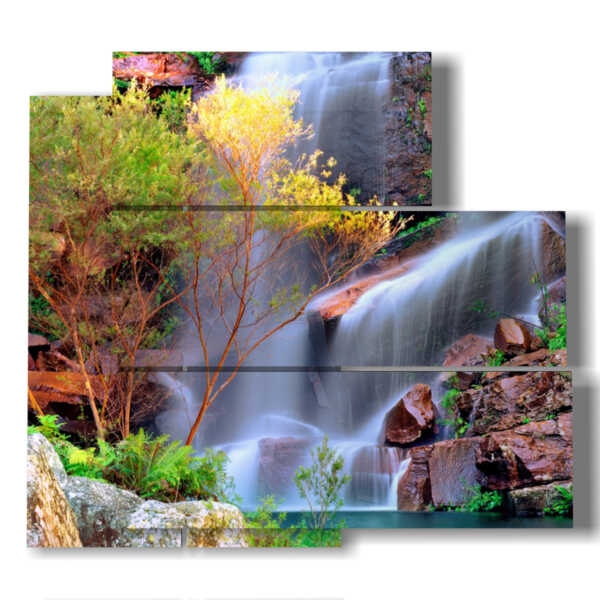 tableaux avec chute d'eau