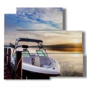 images tableaux modernes bateaux prêts pour un voyage