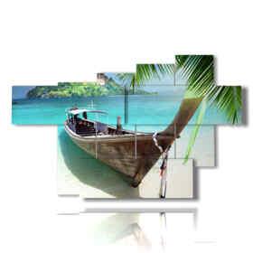 barche quadri in riva