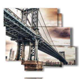 tableaux Brooklyn pont majestueux