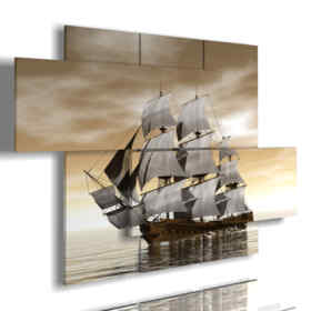 paintings with sailing ship boat