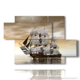 quadri con barca veliero