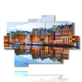quadro con foto case Amsterdam