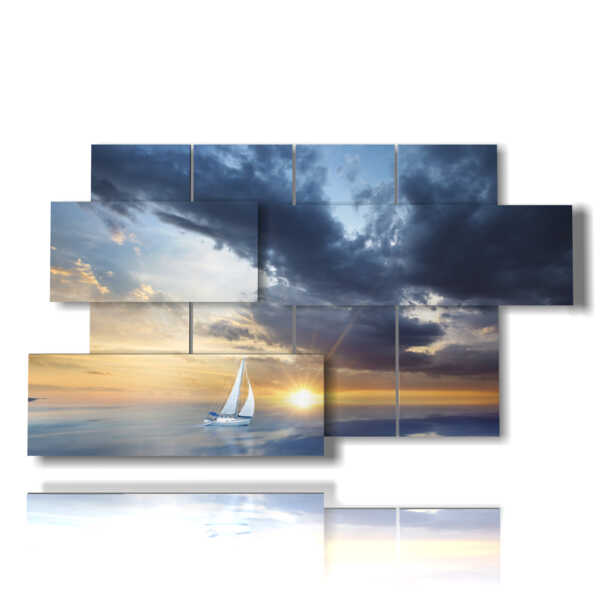 sailboat in the sunset picture