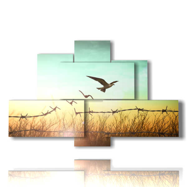abstract nature paintings in flight