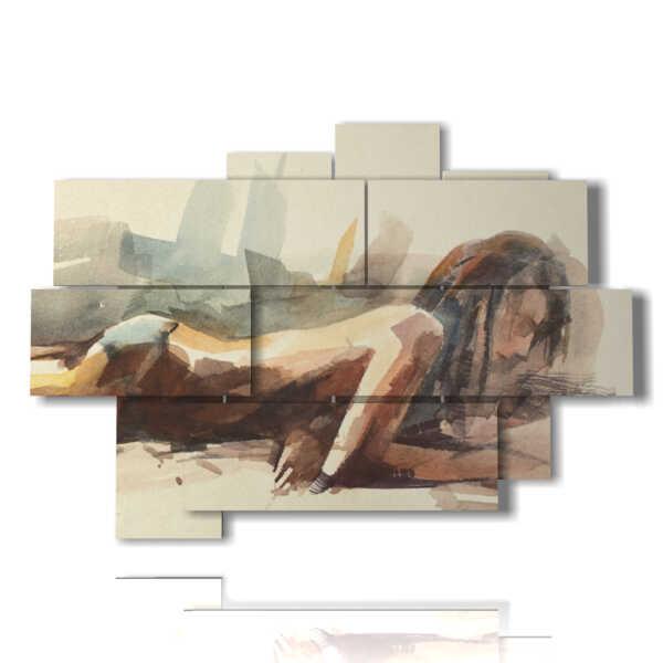 quadri che ritraggono donne distese