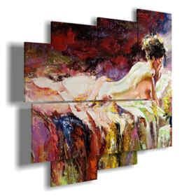 tableaux avec des femmes dos dans un lit de tableaux