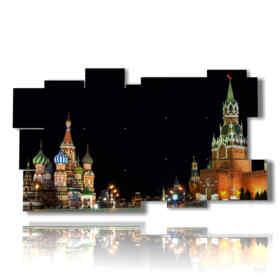 Moscú fotos en un cuadro noche