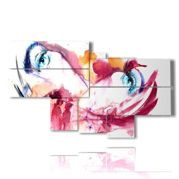 quadri volti donne astratte