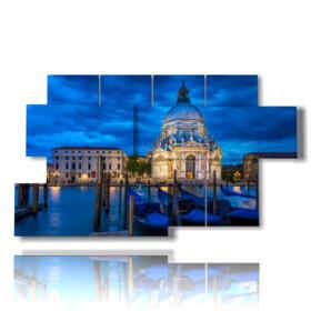 tableau moderne Venise - Grand Canal et Basilique de Santa Maria della Salute