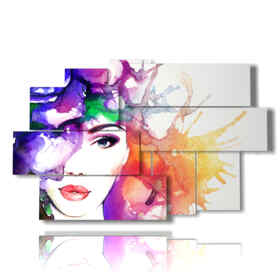 quadri che raffigurano donne in un mix di colori