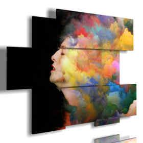 cuadros con mujeres en un color de pelo