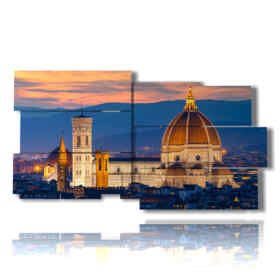 Modern painting Florence the Duomo