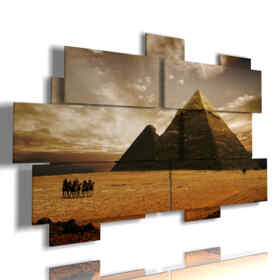 cuadro de Egipto con fotos de época
