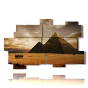 quadro con Egitto foto d epoca