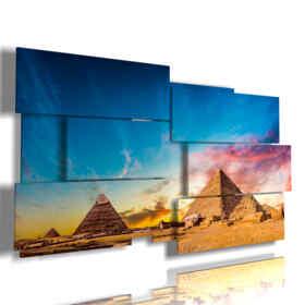 cuadro de foto pirámides de Egipto
