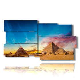 painting photo Egyptian pyramids
