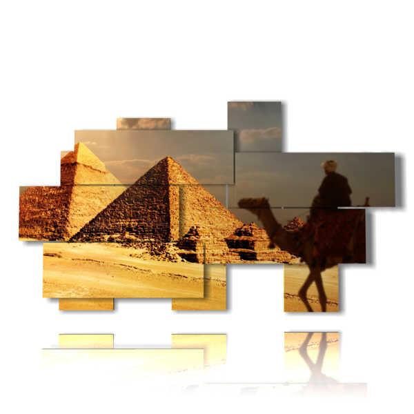 cuadro histórico Egipto al atardecer