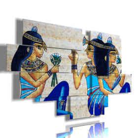 cuadro con fotos Cleopatra Egipto