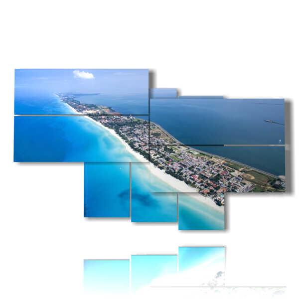 cuadro con imágenes cuba isla