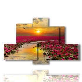foto di cuba in un quadro al tramonto
