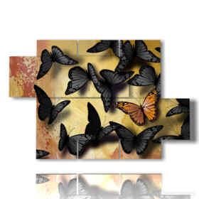 quadri con le farfalle nere e gialle