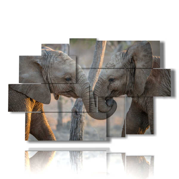 painting of lovers painted elephants