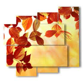quadro con immagine foglie autunno