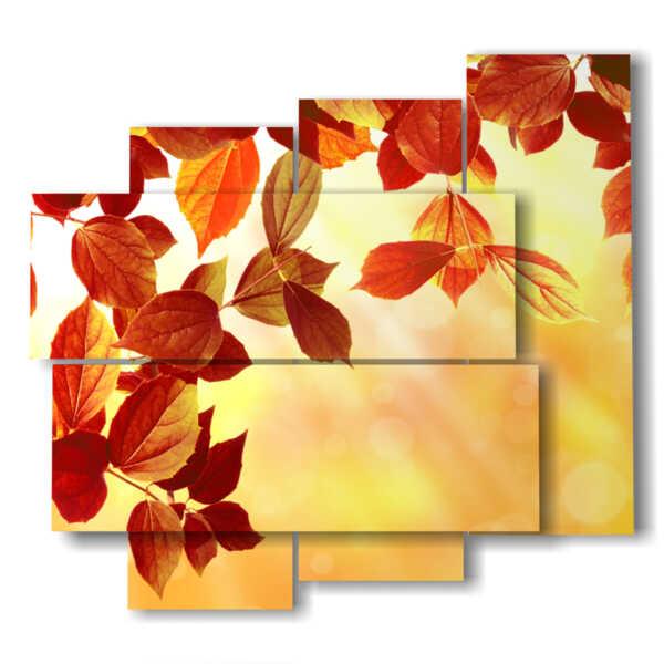 cuadro con las hojas de otoño