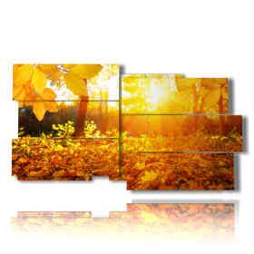 Tableau moderne avec des photos d'automne