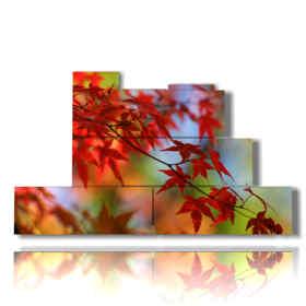 quadro con immagine bosco autunno