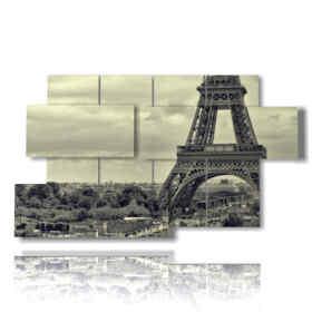 quadri tour Eiffel in bianco e nero