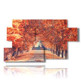 Tableau moderne de l'automne images du matin Good