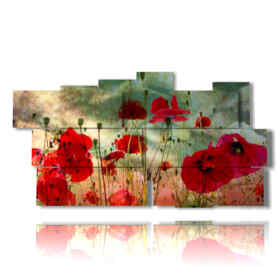 painting with poppies picture or artistic designs