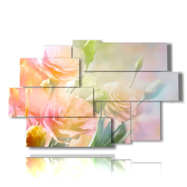 tableaux avec des fleurs colorées dans un poème de rêves