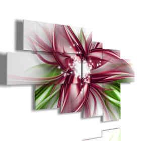 cuadro para la foto de color flores con el corazón mágico