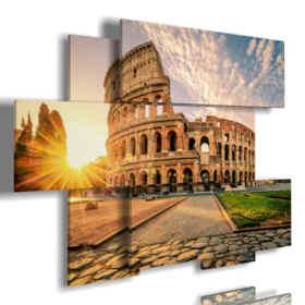 quadri astratti Roma del Colosseo al tramonto