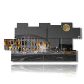 Modern picture of Rome the moon and you