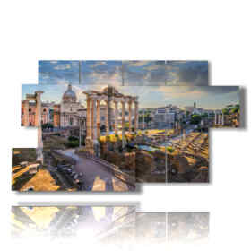 reproductions modern paintings Rome of the Roman Forum