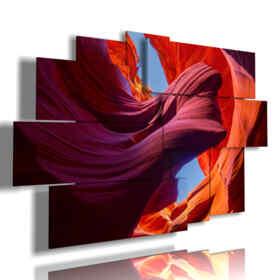 Panel mit gemalten Landschaft Antelope Canyon