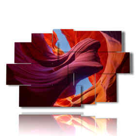 panel con paisaje pintado cañón del antílope