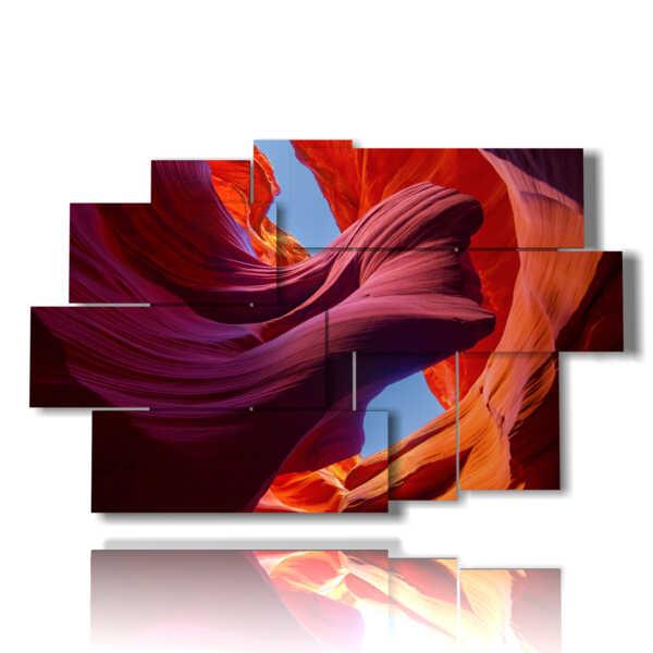 quadro con dipinto di paesaggio Antelope canyon