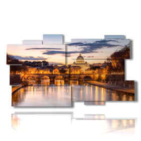 Modern picture with beautiful photos in Rome