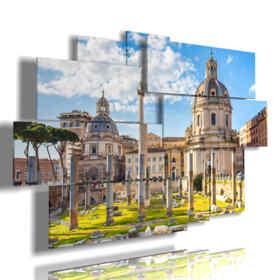 quadro con immagini Roma antica