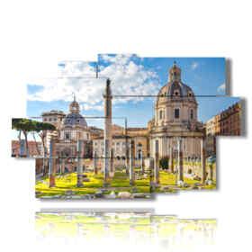 cuadro con imágenes antiguas de Roma