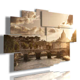 paintings on canvas Rome at sunset