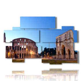 immagini roma su quadro