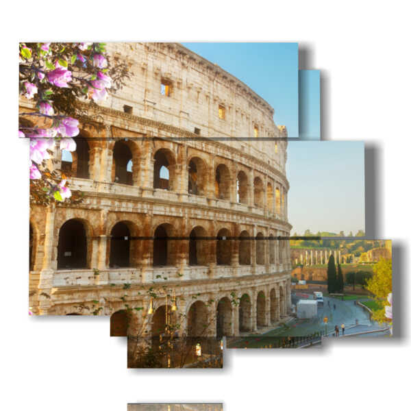 cuadro de foto del Coliseo de Roma