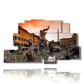 Modern painting with artistic photos in Rome
