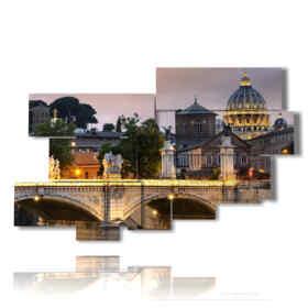 quadro con immagini tramonti a roma